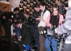 Paparazzi check their shots...