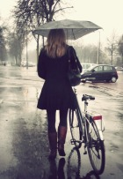 Walkin' in the rain...